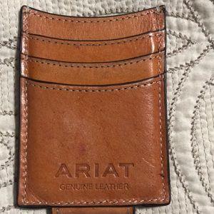 Ariat Tan Embossed men's Money Clip. Like new